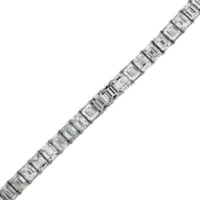 50ct emerald cut diamond tennis bracelets