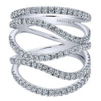 Gabriel & Co. 18k White Gold Open Crossover Diamond Ring LR50711W84JJ