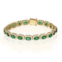 Simon G LB2119 Diamond Emerald Duchess Collection Bracelet