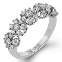 Simon G LP2318 Diamond Caviar Collection Ring