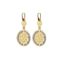Officina Bernardi Platinum and Sterling Silver Small Sun Drop Earrings