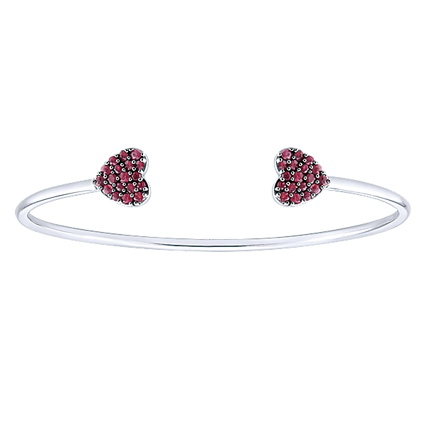 gabriel and co silver and ruby bangles