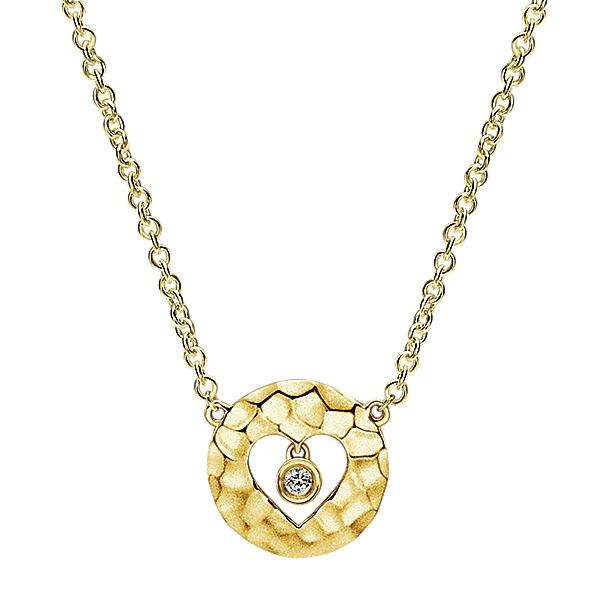 Gabriel & Co NK5191Y45JJ 14k Yellow Gold Diamond Heart Necklace