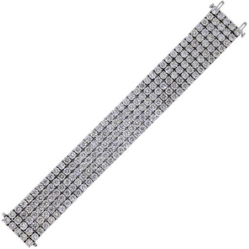 80ctw diamond bracelet in white gold