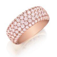 Henri Daussi R22-2 Rose Gold 1.70ct Fancy Pink Diamond Band
