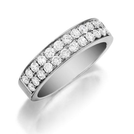 Henri Daussi Diamond Wedding Band