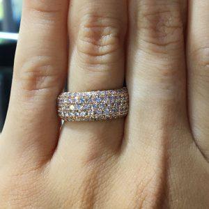 148cc77f5c5d7 Henri Daussi R22-2 Rose Gold 1.80ct Fancy Pink Diamond Band