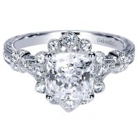 Gabriel & Co. ER8838W44JJ Victorian Halo Engagement Ring Setting