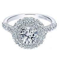 Gabriel & Co. ER7914W83JJ 18k White Gold Double Halo Engagement Ring Setting