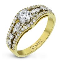 Simon G LR1153 Two Tone Duchess Collection Diamond Engagement Ring Setting