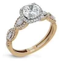 Simon G MR2864 Two Tone Fabled Collection Diamond Engagement Ring Setting