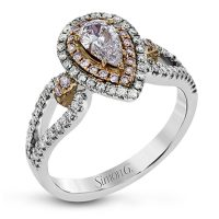 Simon G MR2869 Two Tone Fabled Collection Diamond Engagement Ring Setting