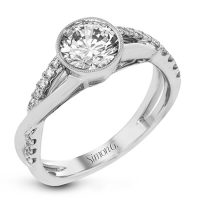 Simon G MR2881 Two Tone Fabled Collection Diamond Engagement Ring Setting