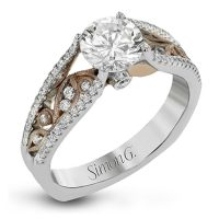 Simon G MR2917 Two Tone Fabled Collection Diamond Engagement Ring Setting