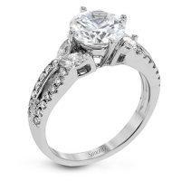 Simon G TR635 Garden Collection Diamond Engagement Ring Setting