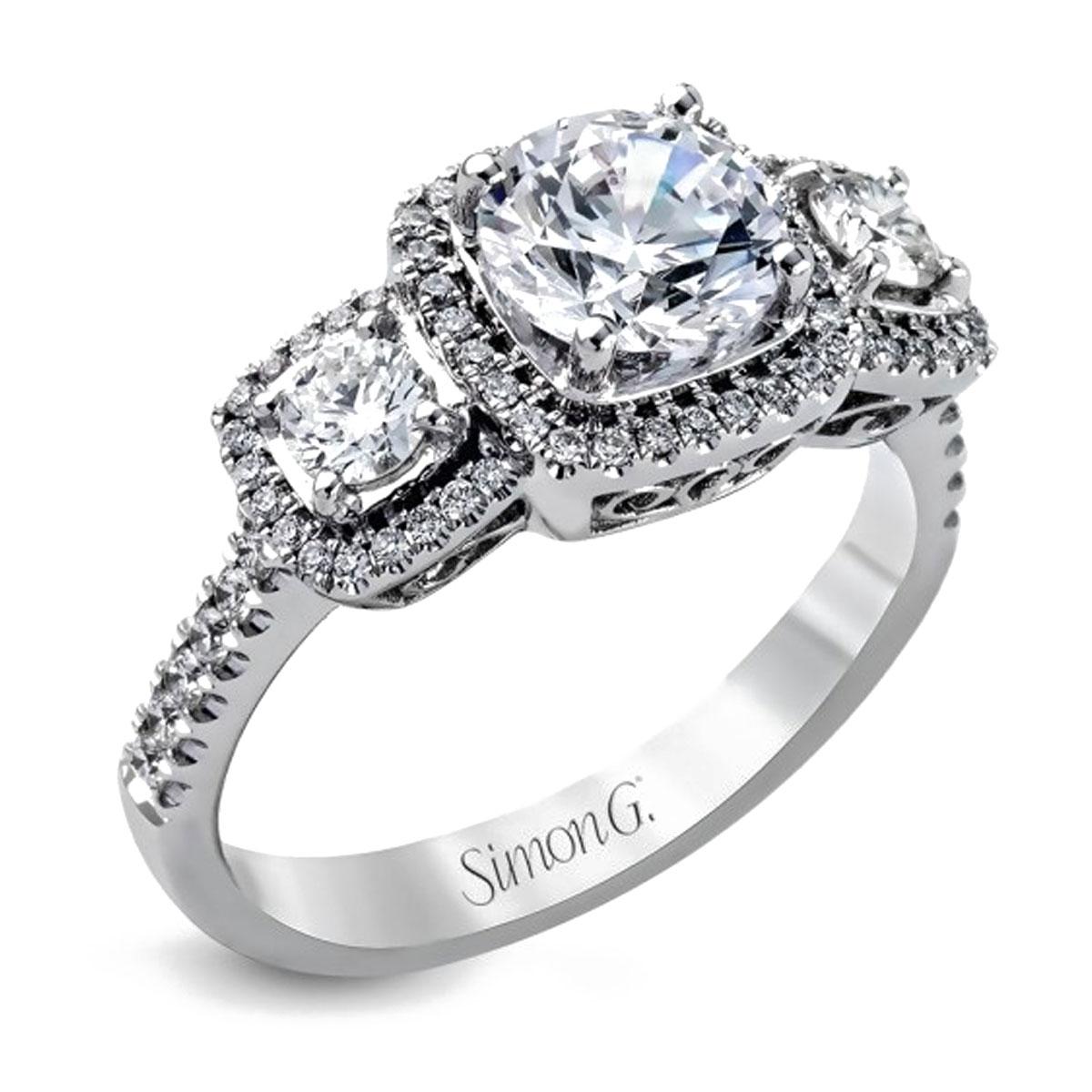 Simon G Engagement Rings 0 91ctw Diamond Accents