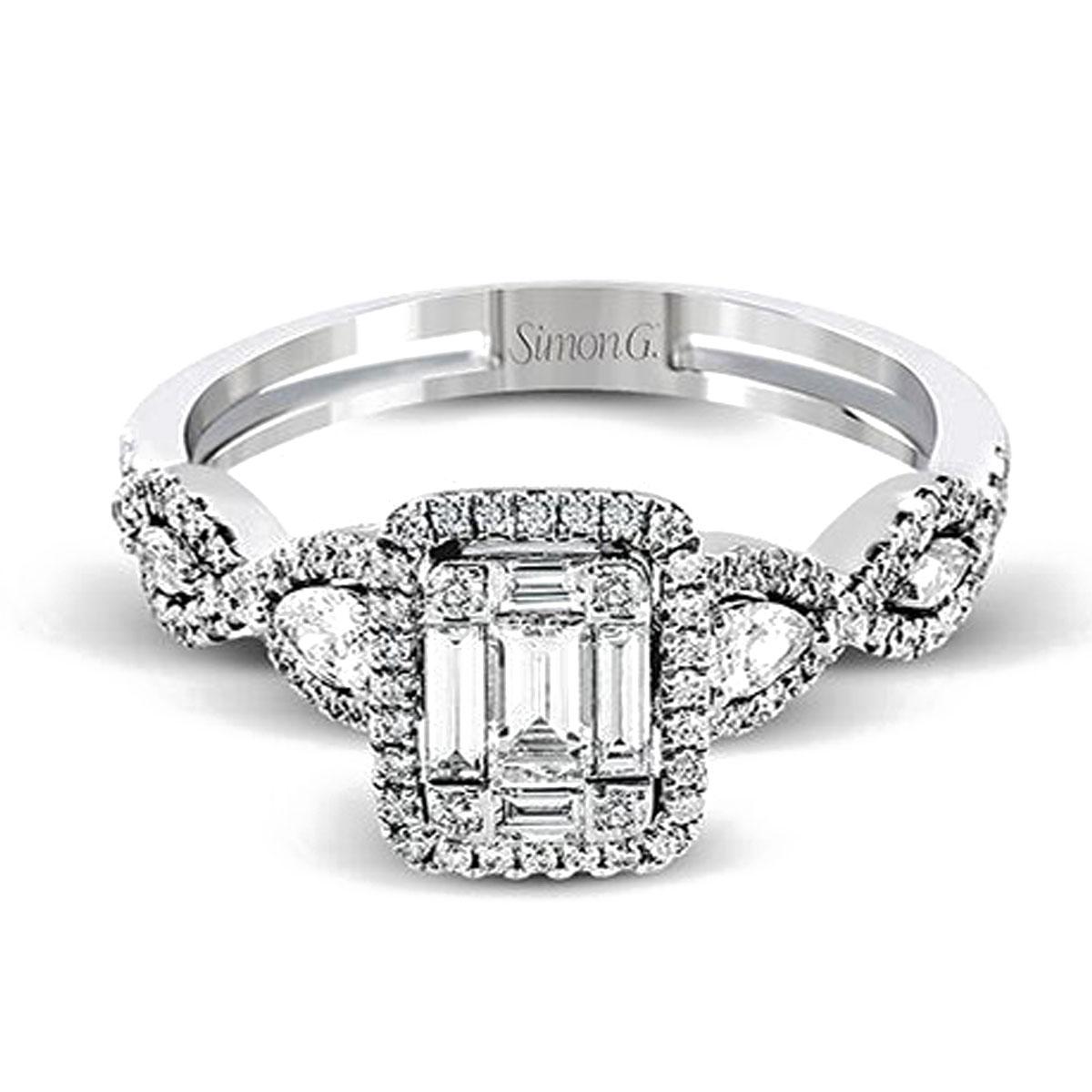 Simon G Engagement Rings Mosaic 28ctw Diamond Accents
