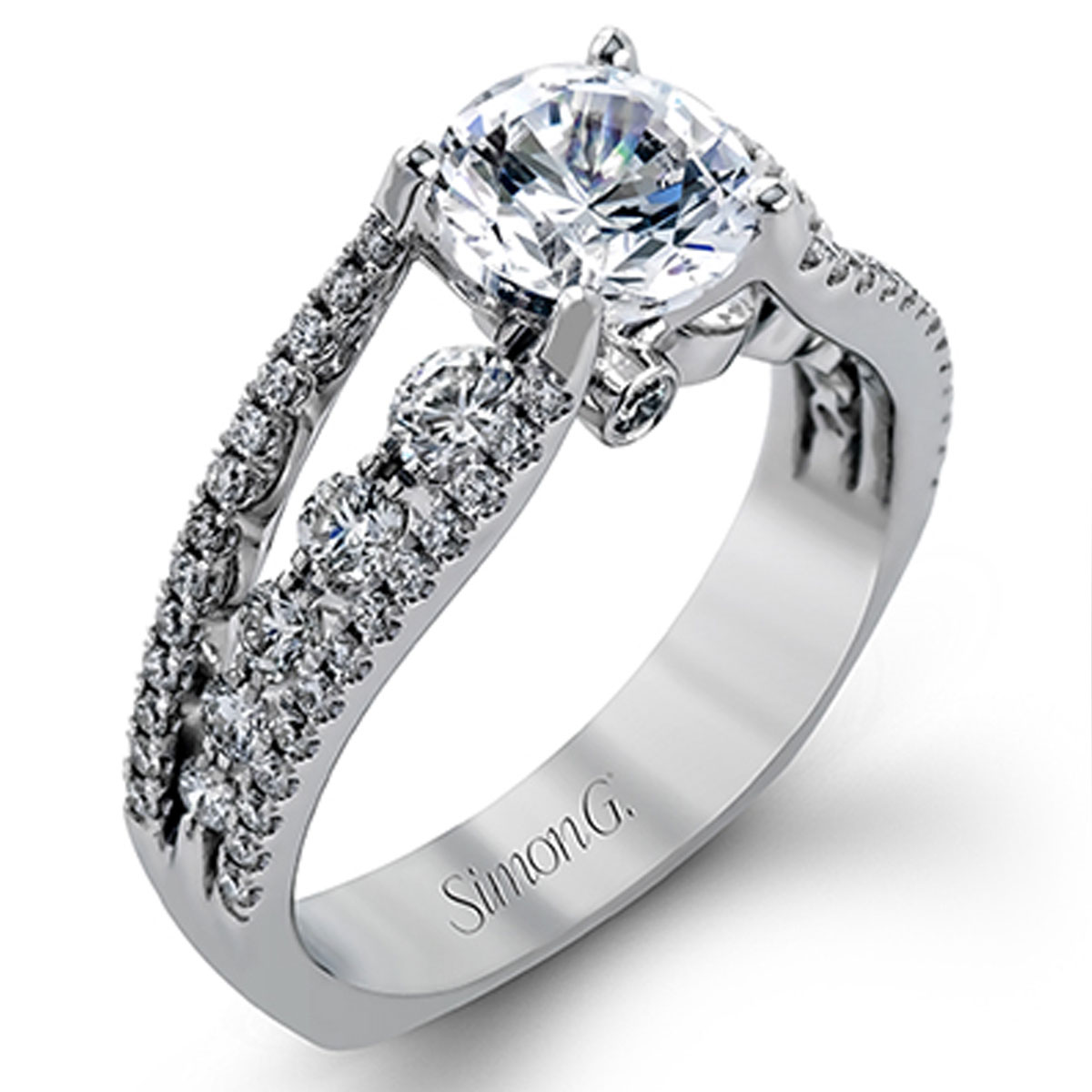 Simon G Engagement Rings 0 91ctw Diamond Accents