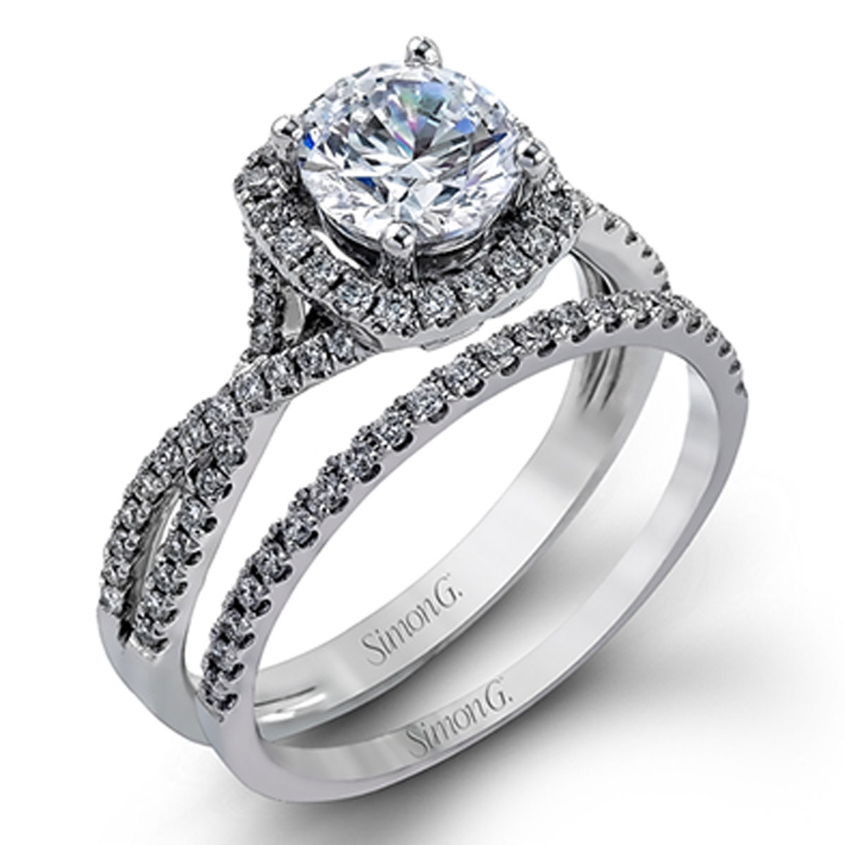 Simon G Engagement Rings 45ctw Accent Diamonds Setting