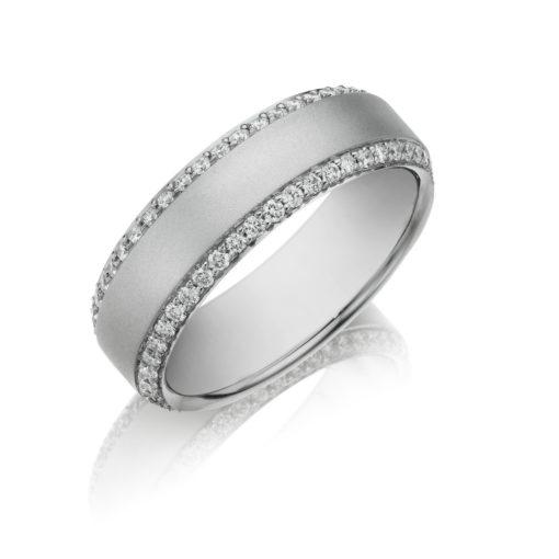 Henri Daussi MB1 0.95ct 7mm Men's Diamond Eternity Wedding Band