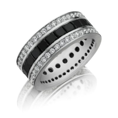 Henri Daussi MB14 9mm Men's Diamond Eternity Wedding Band