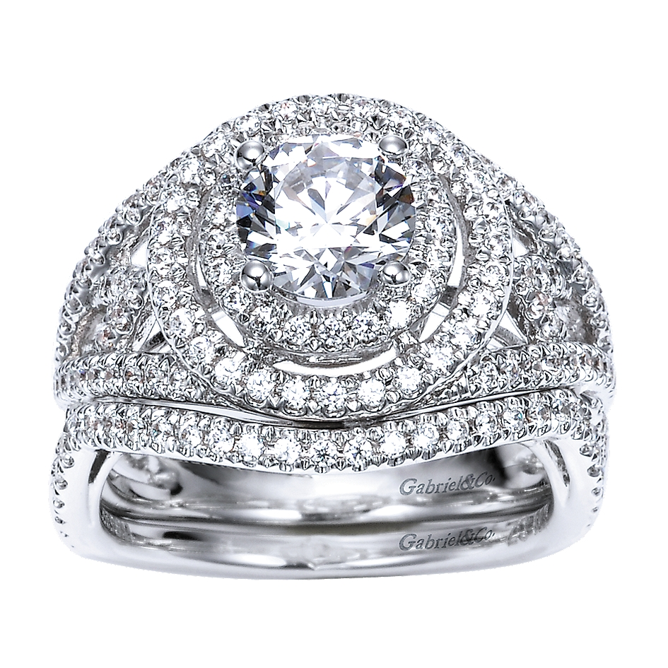 Gabriel & Co Engagement Rings Halo Engagement Ring 0 69ct