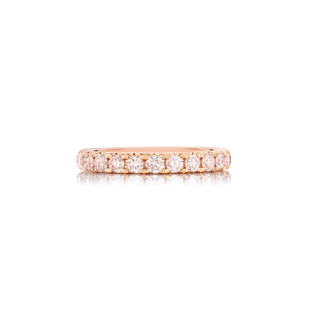 36163b79169bf Henri Daussi Rings Rose Gold 1.35ct Pink Diamond Eternity Band