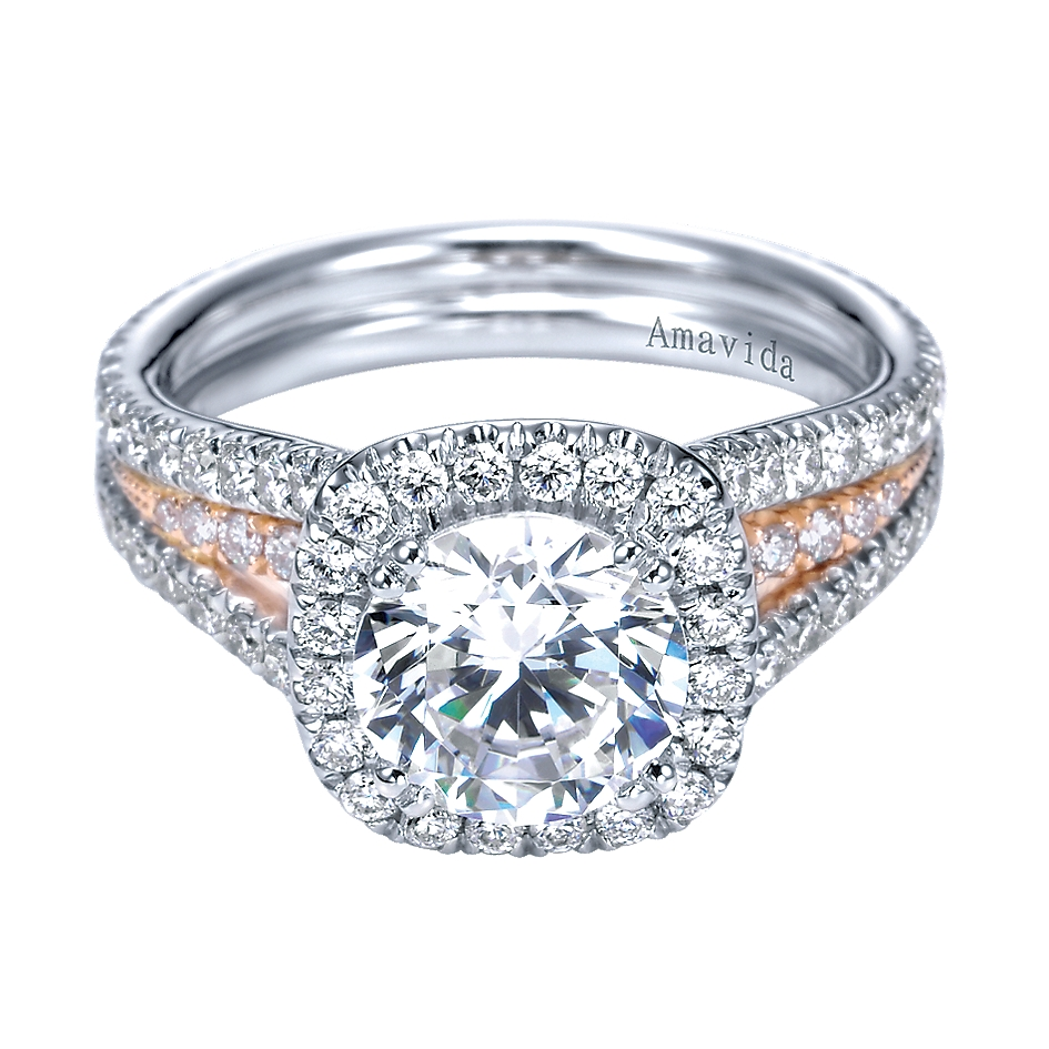 Gabriel & Co Engagement Rings Halo Engagement Ring 0 92ctw