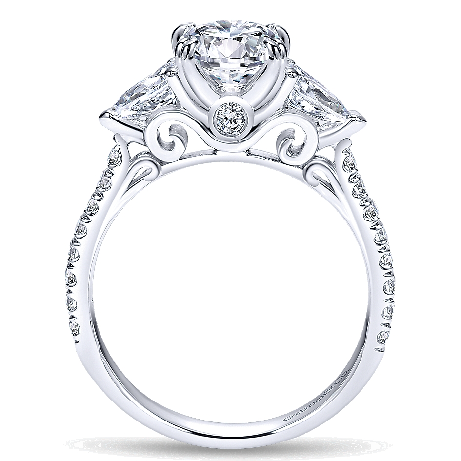 Gabriel & Co Engagement Rings 3 Stone 0 58ctw