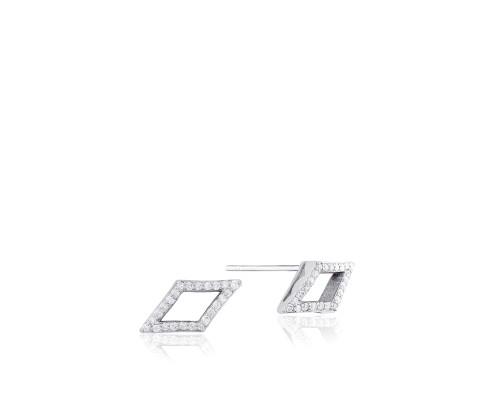 Tacori Ivy Lane SE227 Diamond Chevron Stud Earrings