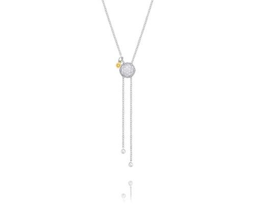 Tacori Sonoma Mist SN213 Double Chain Pavé Dew Drop Lariat Necklace