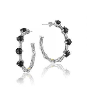 Tacori SE13819 Classic Rock Studded Hoop Earrings