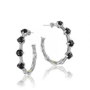 Tacori SE13819 Classic Rock Studded Hoop Earrings