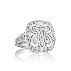 Tacori Monogram FR808M Diamond Letter Initial Ring