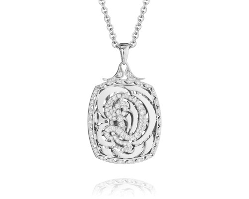 Tacori Monogram FP601D Diamond Letter Initial Pendant Necklace