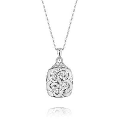 Tacori Monogram FP664L Diamond Letter Initial Pendant Necklace