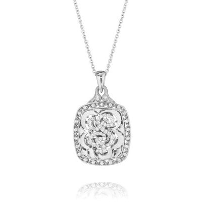 Tacori Monogram FP663S Diamond Letter Initial Pendant Necklace