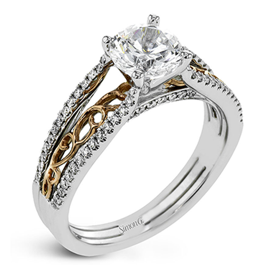Simon G Two Tone Passion Collection Diamond Engagement