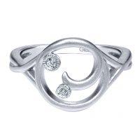 Gabriel & Co. Contemporary Collection Silver Diamond Necklace
