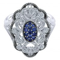 Gabriel & Co. Mediterranean Collection Silver Multi Color Stones Ring