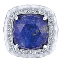 Gabriel & Co. Souviens Collection Sterling Silver Multi Color Gemstone Ring