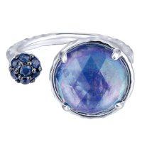 Gabriel & Co. Souviens Collection Silver Multi Color Stone Ring