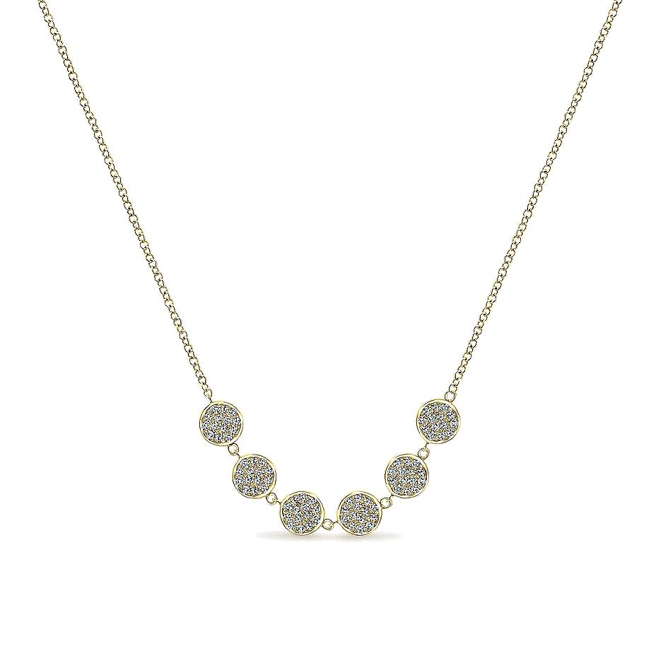 gabriel co jewelry 14k yellow gold circle of diamonds