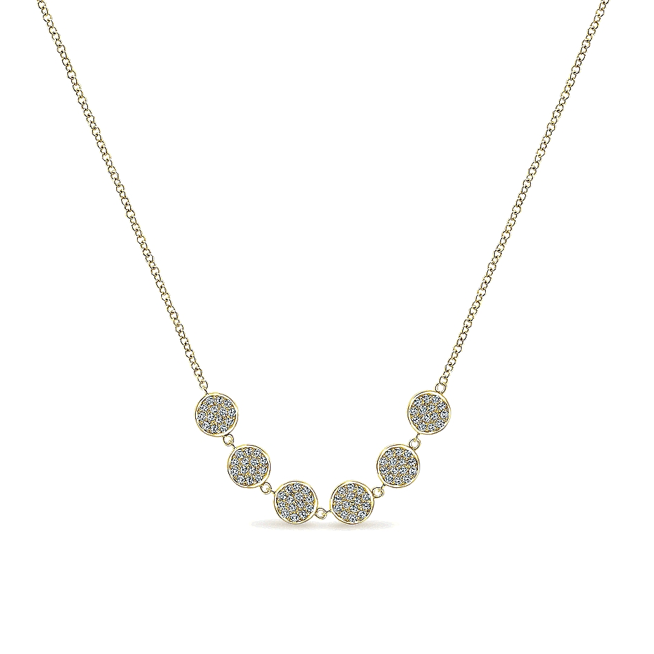 Gabriel & Co. 14k Yellow Gold Diamond Necklace