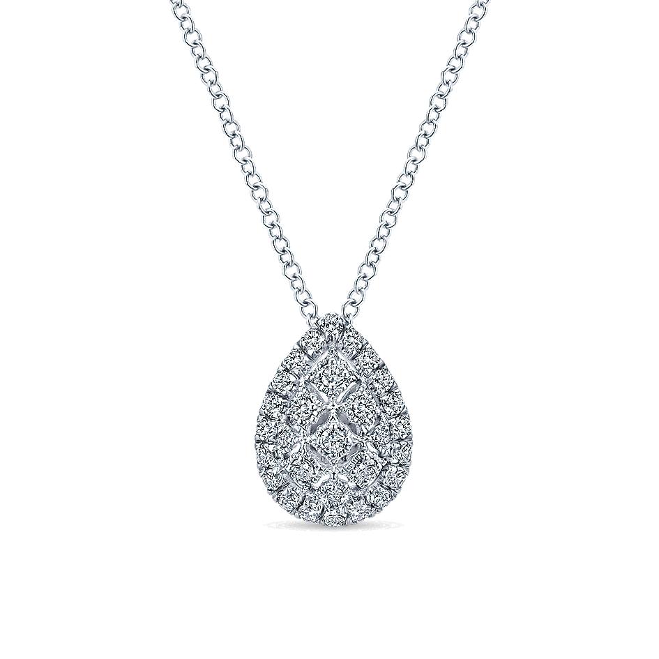 Gabriel & Co. 14k White Gold Diamond Necklace