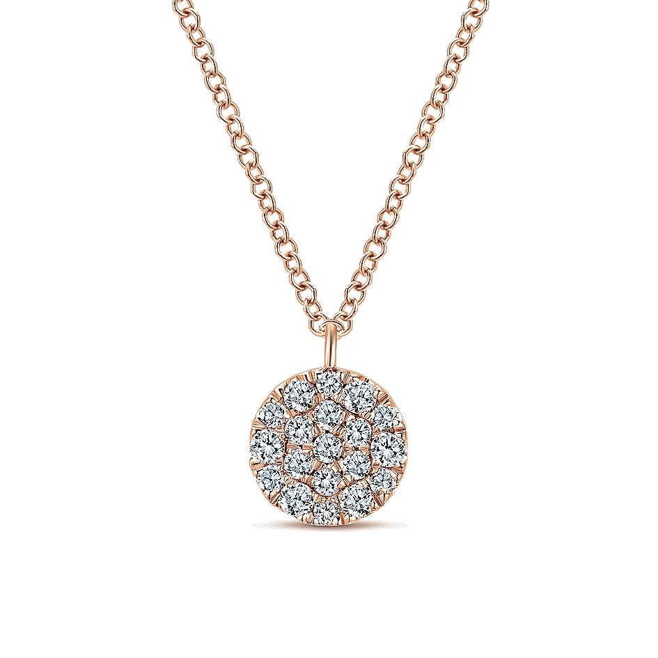 Gabriel & Co. 14k Gold Diamond Silk Necklace