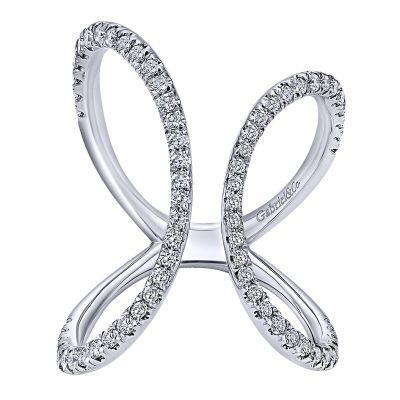 Gabriel & Co. 14k Gold Diamond Kaslique Ring