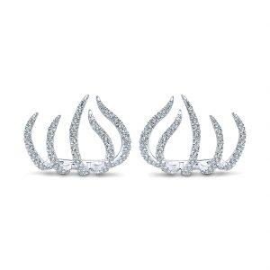 Gabriel & Co. Kaslique 14k Gold Diamond Stud Earrings