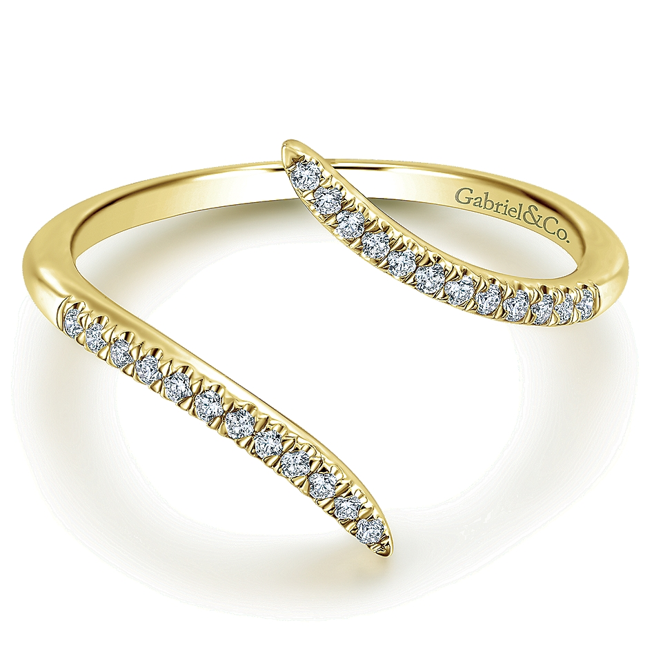 Gabriel & Co. 14k Yellow Gold Diamond Ladies Ring