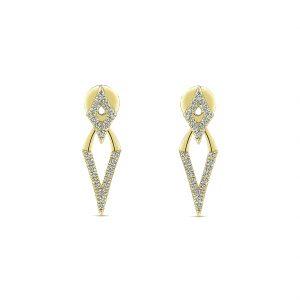 Gabriel & Co. 14k Gold Diamond Peek A Boo Earrings